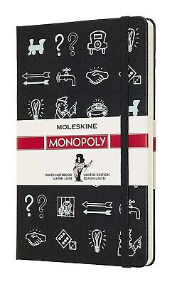 MOLESKINE x MONOPOLY BLACK LARGE RULED NOTEBOOK *New in Retail PACKAGE!!
