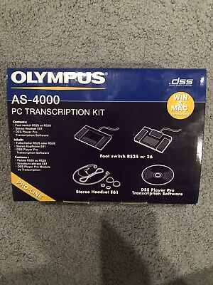 OLYMPUS AS-4000 PC Transcription Kit RS25 BRAND NEW