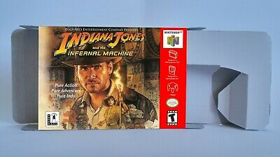 Indiana Jones and The Infernal Machine - repro box with insert - N64 . HQ !!
