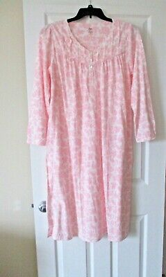 Aria womens sweetheart long sleeve nightgown size Medium pink paisley