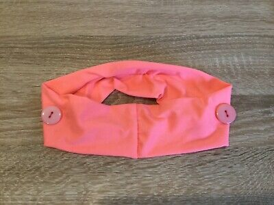 Headband with buttons for face mask - ideal for nurses - pink - same day post