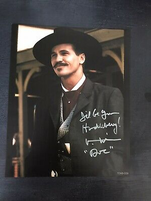 Val  Kilmer - Doc  Holliday -  8 X 10   Glossy  Signed  Photo  Reprint Tombstone