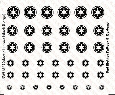 1//12 Scale Custom Decals Star Wars Stormtrooper Helmets Waterslide Decals
