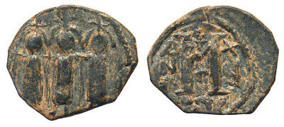 Byzantine Heraclius, Heraclius Constantine and Martina Follis Eastern imitation