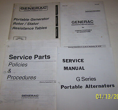 GENERAC Generator/Engine Repair and Service Manuals