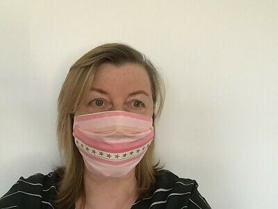 Adults 100% Cotton Face Mask,  Reusable, Washable, Handmade. Free postage
