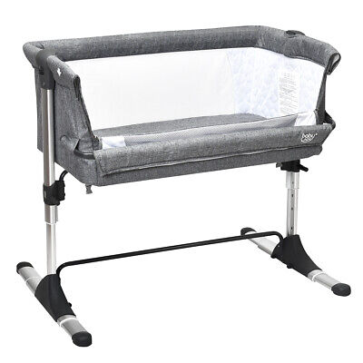 Portable Baby Bed Side Sleeper Infant Travel Bassinet Crib W/Carrying Bag Grey