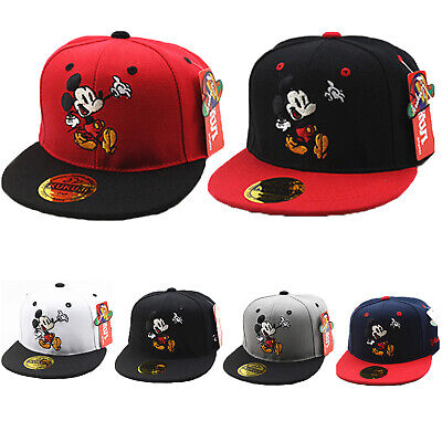 Toddler Kids Boys Girls Mickey Mouse Baseball Cap Summer Snapback Adjustable Hat