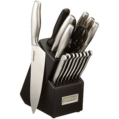 Cuisinart 17-Piece Artiste Collection Cutlery Knife Block Set Stainless Steel