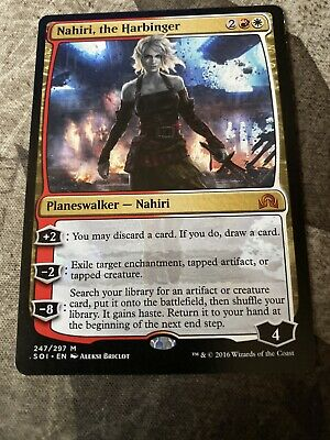 the Harbinger Foil x 1 Nahiri Shadows over Innistrad MTG UNPLAYED CONDITION