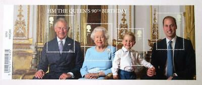 Royal Mail QUEENS 90TH BIRTHDAY MINIATURE STAMP SHEET (with barcode) 2016