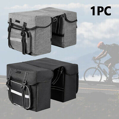 28L Bike Bicycle Cycling Saddle Trunk Bag Double Side Rear Seat Rack Pannier