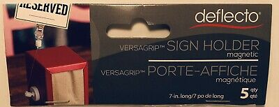 """LOT OF 15 PCS DEFLECTO Versagrip 7"""" Magnetic Standing Sign holder NEW In Package"""