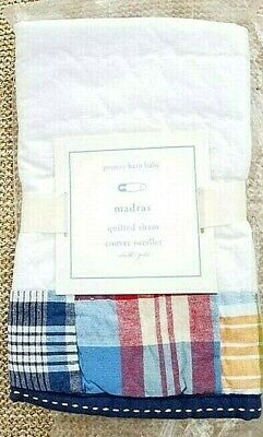 Pottery Barn Kids Baby Madras Quilted Small, Navy Multi, New