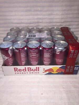 Red Bull Winter Plum Twist Limited Edition 12 Oz - 355 Ml Energy Drink 24 Cans!