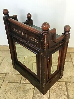 Antique Vintage English Reception Counter Mirrors Desk