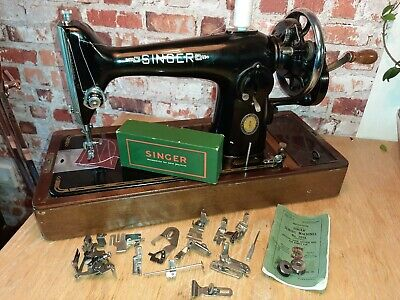 Vintage Singer 201K Handcrank  EG271162  Sews Leather-Serviced-Video
