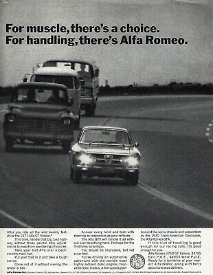 1971 Alfa Romeo 1750 GT Veloce Original Magazine Advertisement