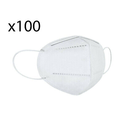 One Size KN95 Face Mask, Protective Mask Against Dust, Bacteria, Pack of 100