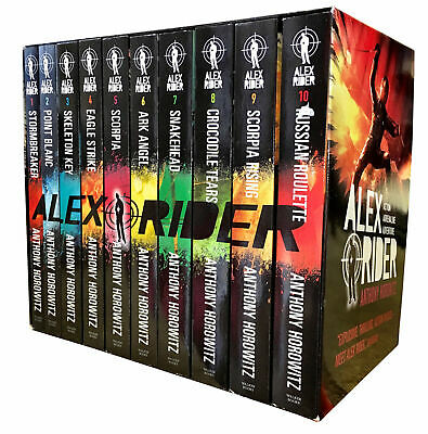 Alex Rider 10 Book Collection Box Set Anthony Horowitz Russian Roulette Scorpia