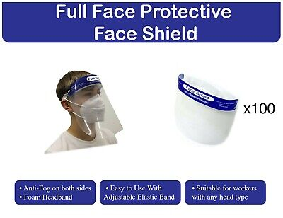 Protective Face Shield pack of x 100