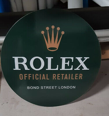 Used Metal Rolex Sign  Very Rusty On The Back