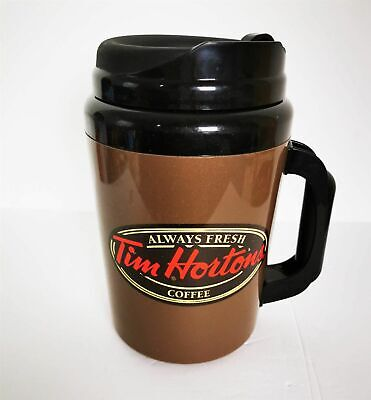 Tim Hortons Aladdin Giant Thermos 10 inch 64 oz Tall Insulated English French