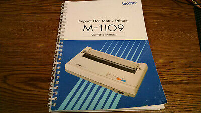 Brother M-1109 Owners Manual