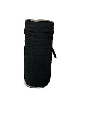 10 Meters 4 Cord Black Elastic - 4mm - Ideal For Face Masks - Free Postage
