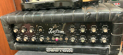 Vintage 1970s Kustom 200 Bass Amplifier Head - Tuck and Roll
