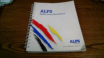 Alps P2400C Owners Manual