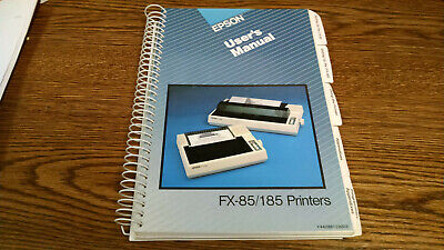 Epson F-85/185  Owners Manual