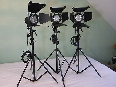 Hedler C12 x3 Tungsten Studio Lighting Kit - Superb Condition