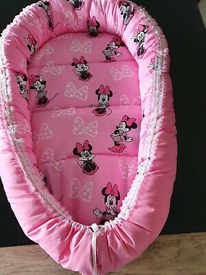 Baby Pod Nest Reversible Bed Sleep Cushion Minnie Mouse