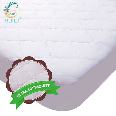 Crib Mattress Protector Waterproof Fitted Matress Pad Thick Cotton Baby Toddler