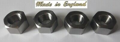 Pack of 4, 7/16 CEI Stainless 26tpi Full Nuts, cycle, bscy, bsc