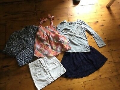 Cute Girls Bundle Incl: Quilted Jacket, Lace Skirt, Tops 7-8 years, H&M, & More