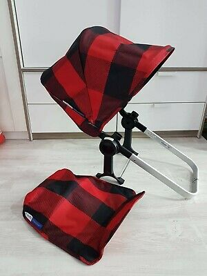 Bugaboo donkey black and red limited edition hood and apron