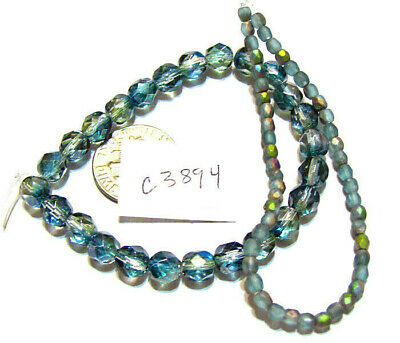 Czech Glass Bead MIXED FACETED ROUNDS  Choice of Color, Bead Size- 2 Strand Lots
