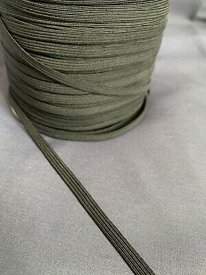 Black Elastic - 6mm - 10 meters - 1/4 Inch - Ideal For Face Masks - Free Postage