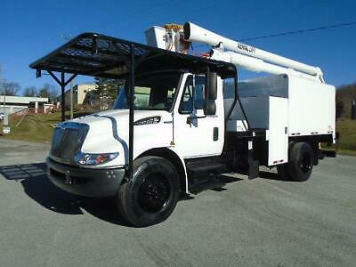 2008 International 4300 Aerial Lift  50' Boom/Bucket Chipper Dump Truck