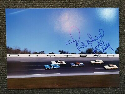 Richard Petty The King Hand Signed A4 Photo Nascar Hall Of Fame