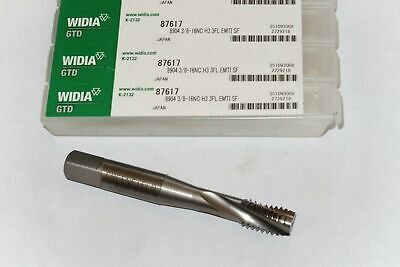 new WIDIA 3/8-16 NC H3 EM-TI Nitride 3 Spiral Flutes HSS Modified Bottoming Tap