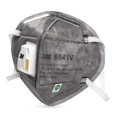 5PCS 3M 9541V KN95 P2 Activated Carbon Particulate Respirator Valve Face Mask