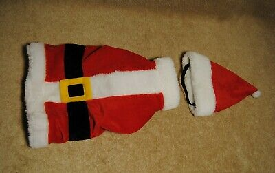 Small Dog or Cat Santa Outfit Pet Costume Clothes Christmas Medium