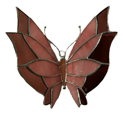 """Butterfly (Bicolor )- Handmade - Stained Glass - Sun Catcher- 7""""X 6"""" Inches"""