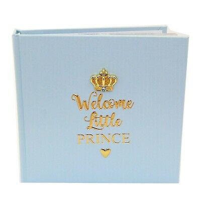 Baby Boy Blue Prince Slip In Photo Album Newborn Gift Baby BoyPresent