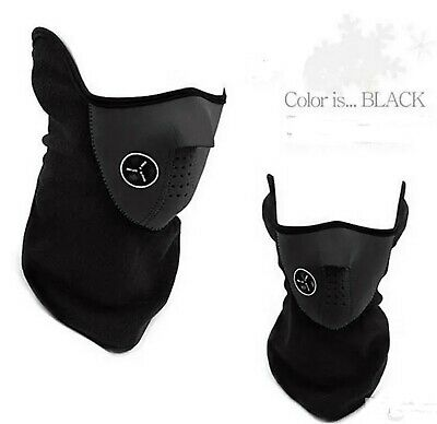 Neoprene Cycling Motorcycle Face Mask Black