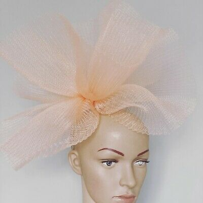 Extra Large Black Dusky Pink Hair Clip Fascinator Wedding Race Day Accessories