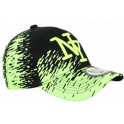 Casquette NY Noire et Jaune Fluo City Fashion Baseball Noryk